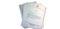 Picture of papers representing policy and memos