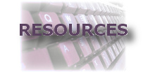 Picture of a keyboard representing the Resources section