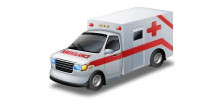 Picture of an ambulance, representing the EMS Programs Section of WVOEMS