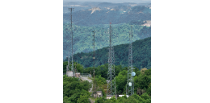 Picture of microwave towers, representing the Division of Communications