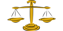 Picture of a scales representing the law and rule section